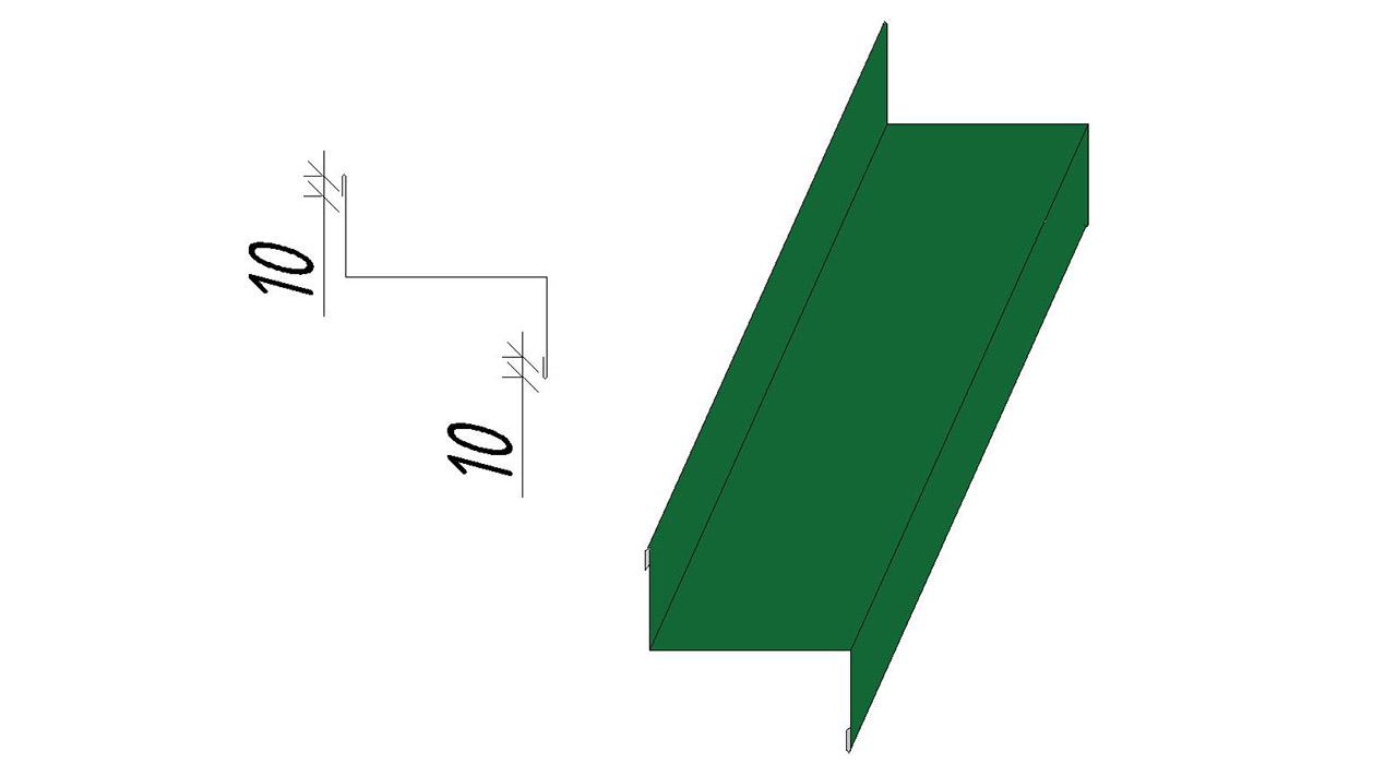 Нащельник Z-образный